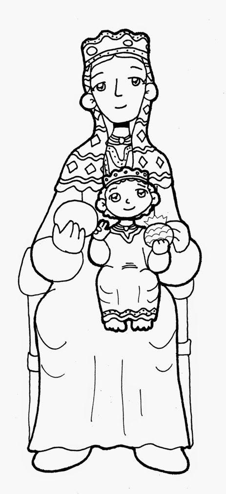Dibujos para catequesis: Virgen María | Advocaciones marianas ...