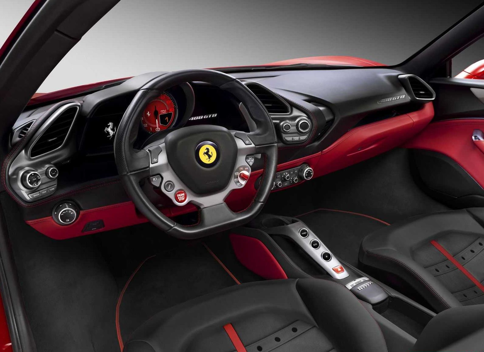 Assistive Panels On Steering Wheel With Automatic Gear Transmission Pivod Ferrari Car 488 Gtb Ferrari 488