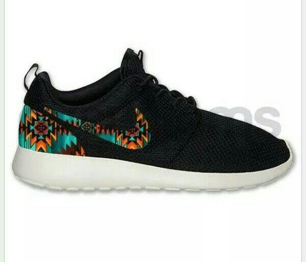 new concept cf1ad 82019 Nike Roshe Run Black with Aztec Tribal Print Custom ...