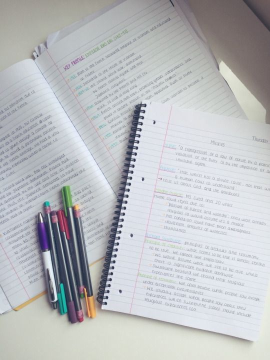 Student School University College Notes Notebook Inspo