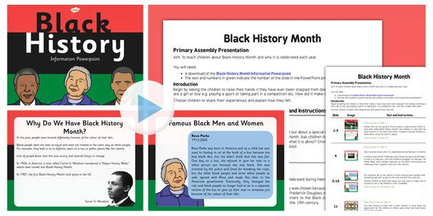black history month assembly script and powerpoint pack this