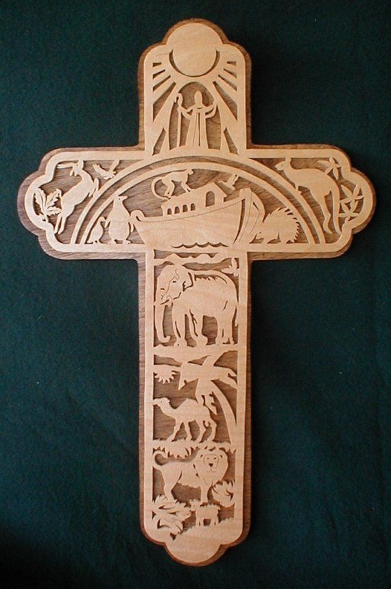 Small Noahs Ark Cross By Dndwoodworks On Etsy Noah S Ark