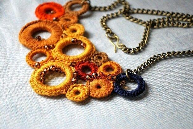 Girocollo Alluncinetto Con Cerchi Bigiotteria Crochet Web