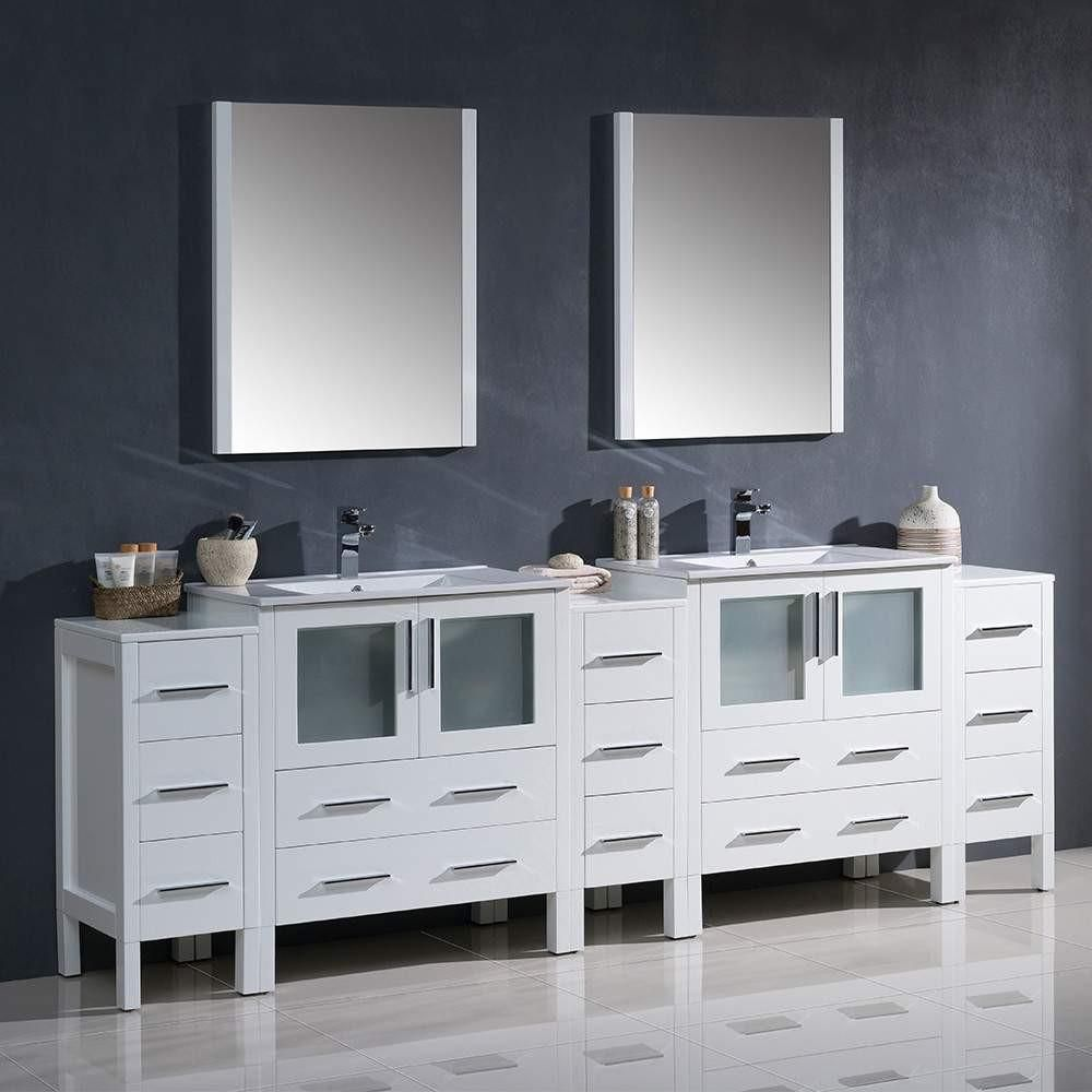 Fresca Torino 96 Double Vanity Bathroom Bathroom Sink Vanity Bathroom Vanity