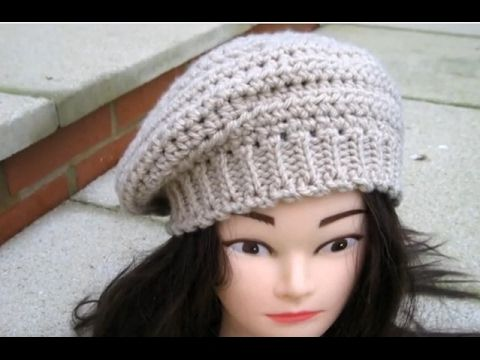 How to Crochet Beret hat (eng sub) press CC for instructions ...
