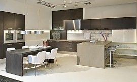 Offene Holzküche mit Eichenholz | neue Wohnung | Pinterest | {Moderne holzküchen u form 90}