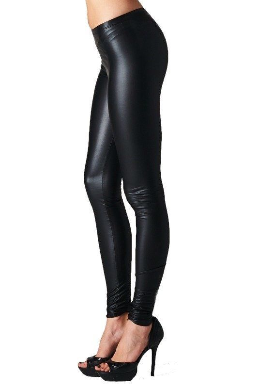 Zoe Leather Look Leggings - Black RESTOCKED | Dark, Wardrobes and ...