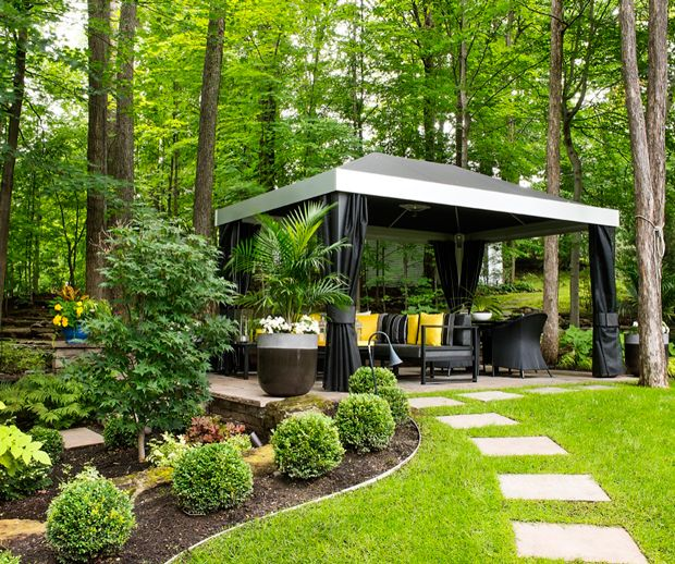 Am nagement paysager 5 tendances fortes paysagement front yard landscaping patio plans - Amenagement paysager devant maison ...