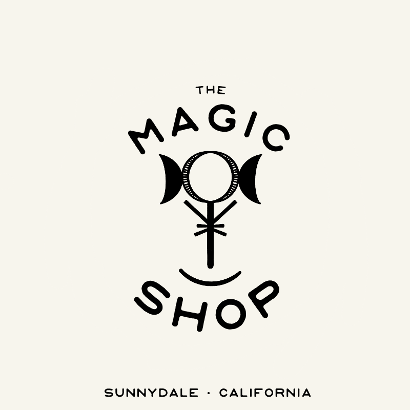 The Magic Shop Fictional Logo Mushaboom Studio Graphic Design Magic Shop Logo Design Shop Logo