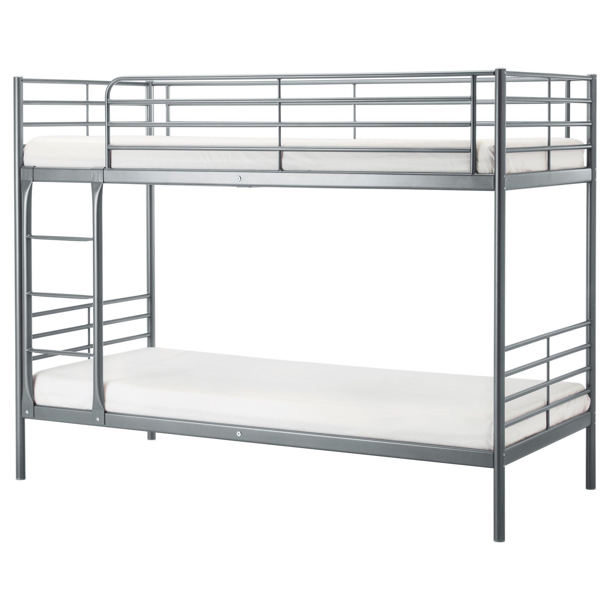 svÄrta bunk bed frame, silver color   bunk bed, industrial bunk ... - Letto Ikea Kritter