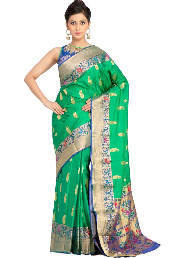 bce1fc7ae5 Perfect for # PartyWear , this green coloured # saree
