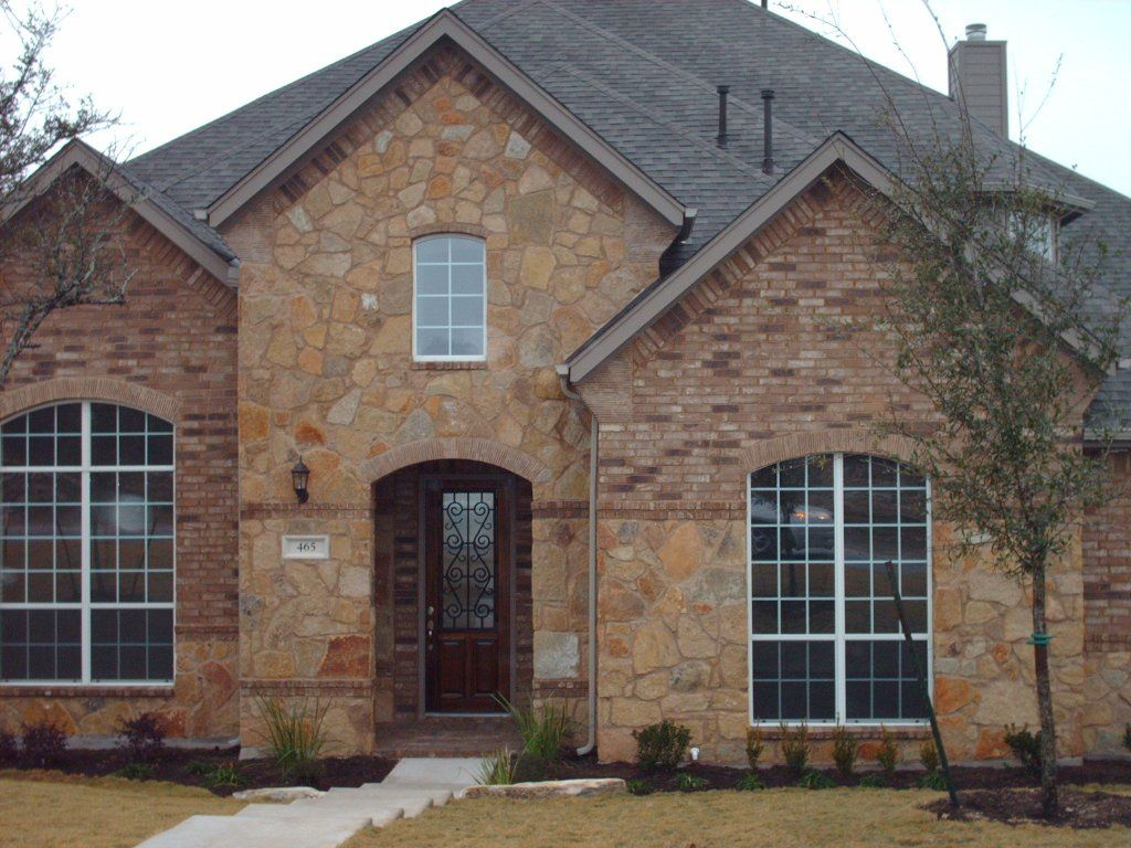 Brick And Stone Exterior Combinations Brick Stone Combinations Homes All The Metal Faucets