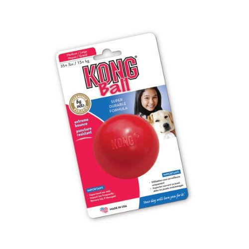 Kong Ball Dog Toy Medium Large Red Pet Lovers Ads Dog Toys