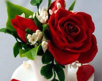 Flores artificiales arreglos florales – regalo del día de la madre, regalo para ella, regalo romántico – peonías rosas, decoración del hogar