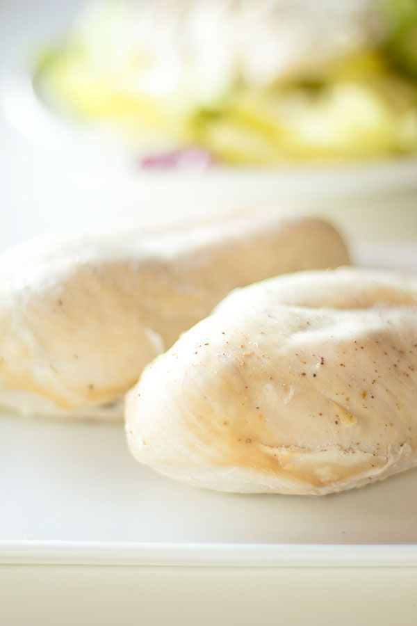 perfect poached chicken breasts