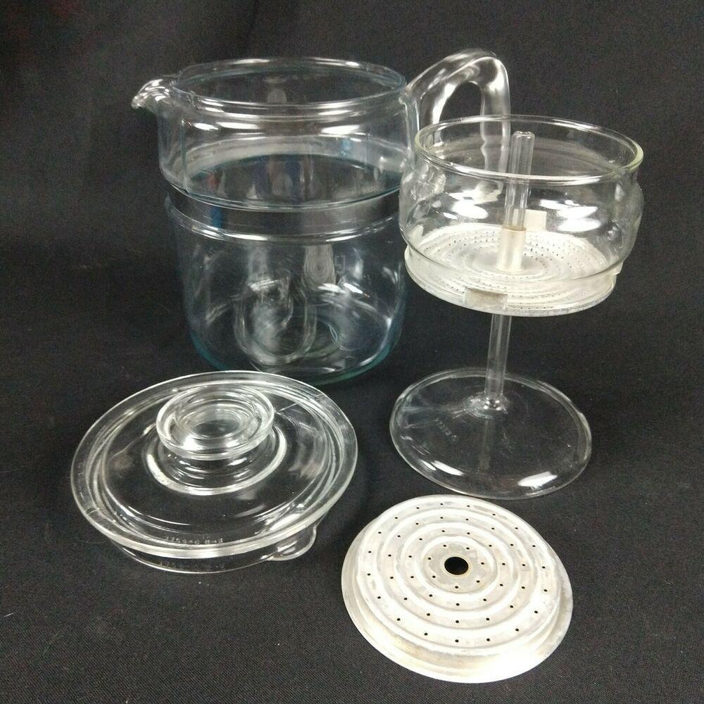 Vintage Pyrex Flameware 96 cup percolator coffee maker