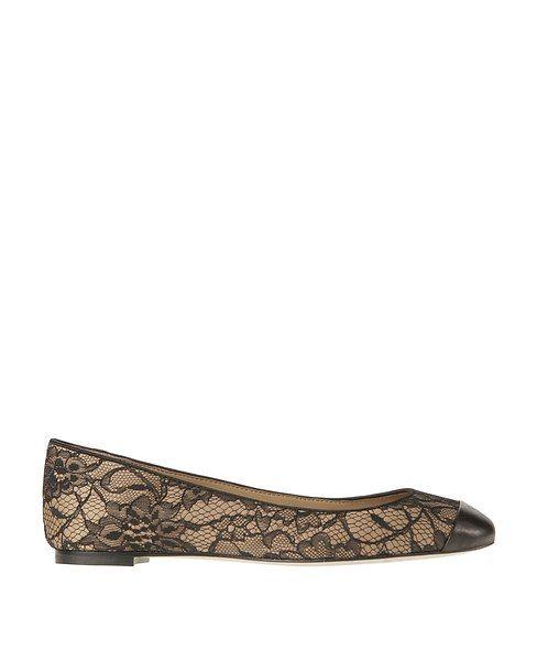 Daniella Cap Toe Lace Ballet Flats