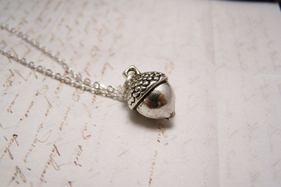 Acorn Necklace in Pewter. Peter Pan. Wendy. by EmilinaBallerina