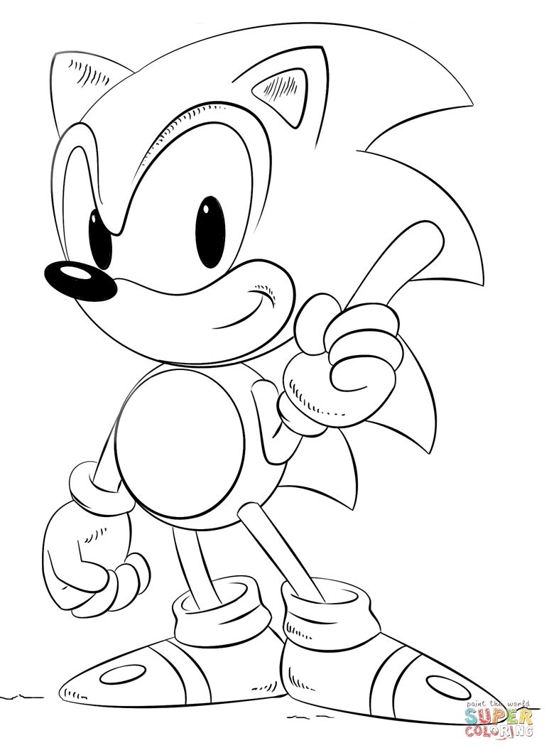 Sonic Free Coloring Free Coloring Pictures How To Draw Sonic