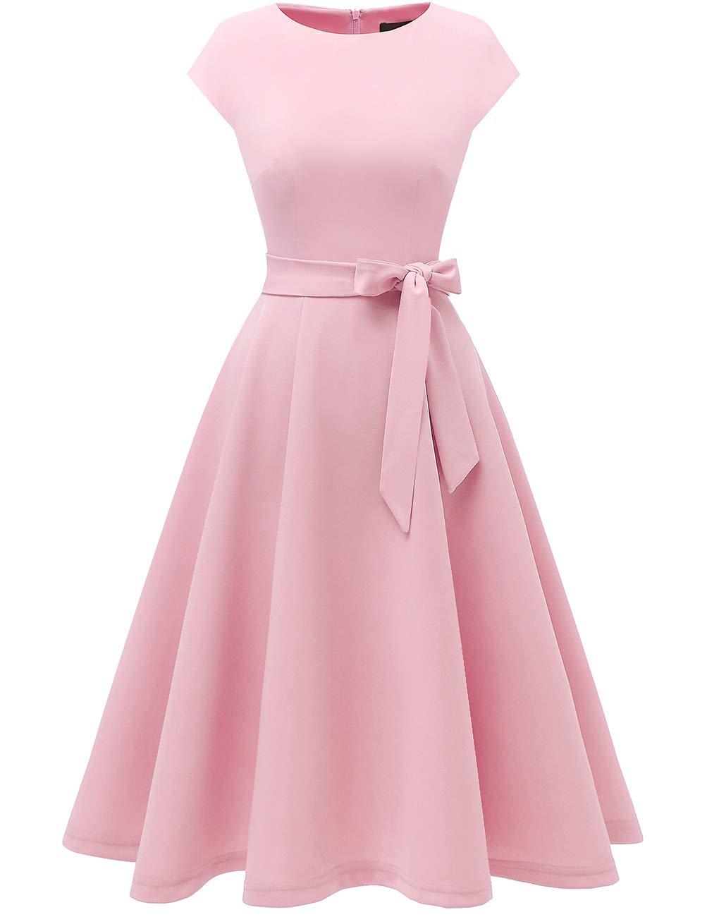 Pink 1950s Retro Dress Cocktail Dress Prom Vintage Tea Dress Short Lace Bridesmaid Dresses [ 1300 x 1003 Pixel ]