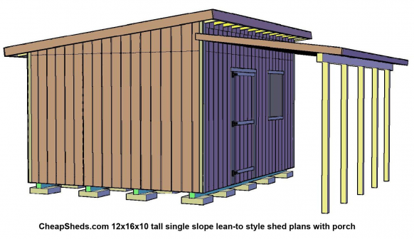 Lean To Style Sheds Shedplans Shed With Porch Shed Lean To Shed