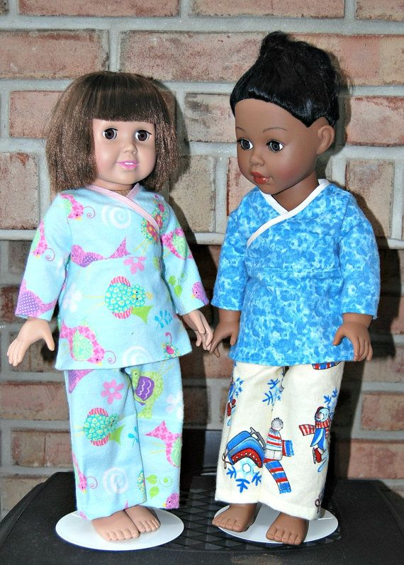 18 Inch Doll Clothes  American Girl Doll Pajamas by NammysCloset, $10.55