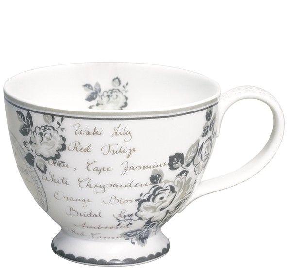 GreenGate Stoneware Teacup Dora White D 11,5 cm