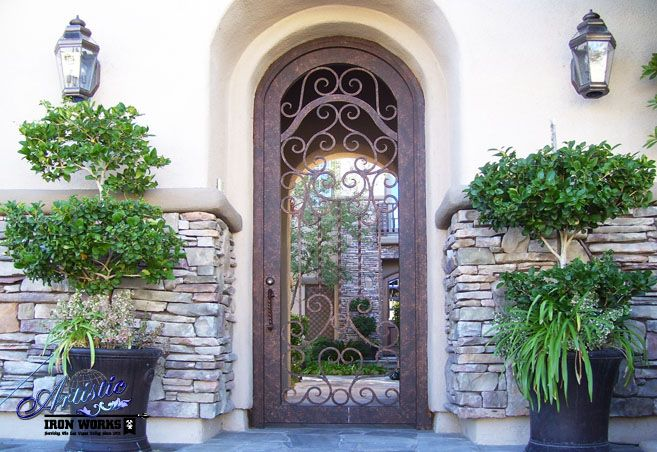 Custom Wrought Iron Entryway