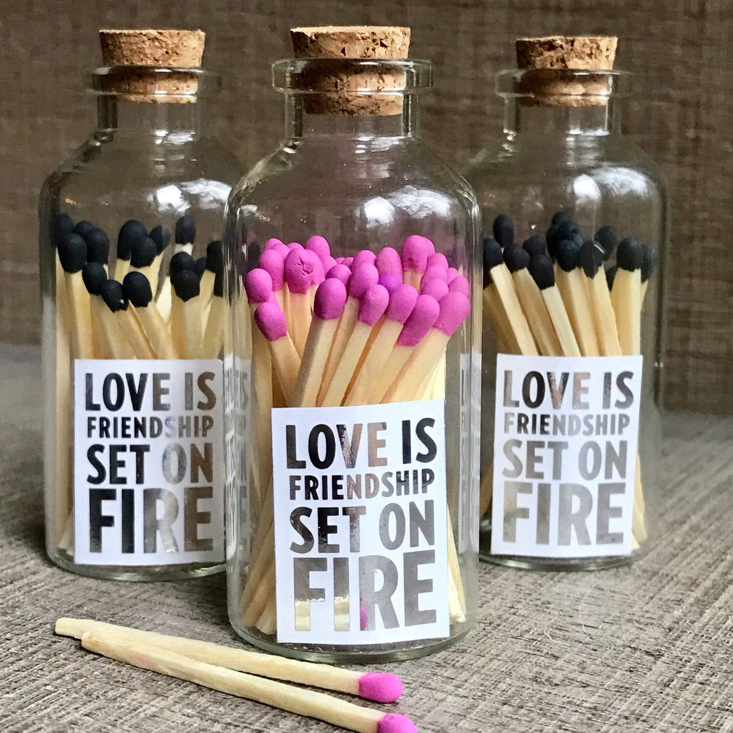 """""""Love is friendship set on fire."""" Darling matches with a"""