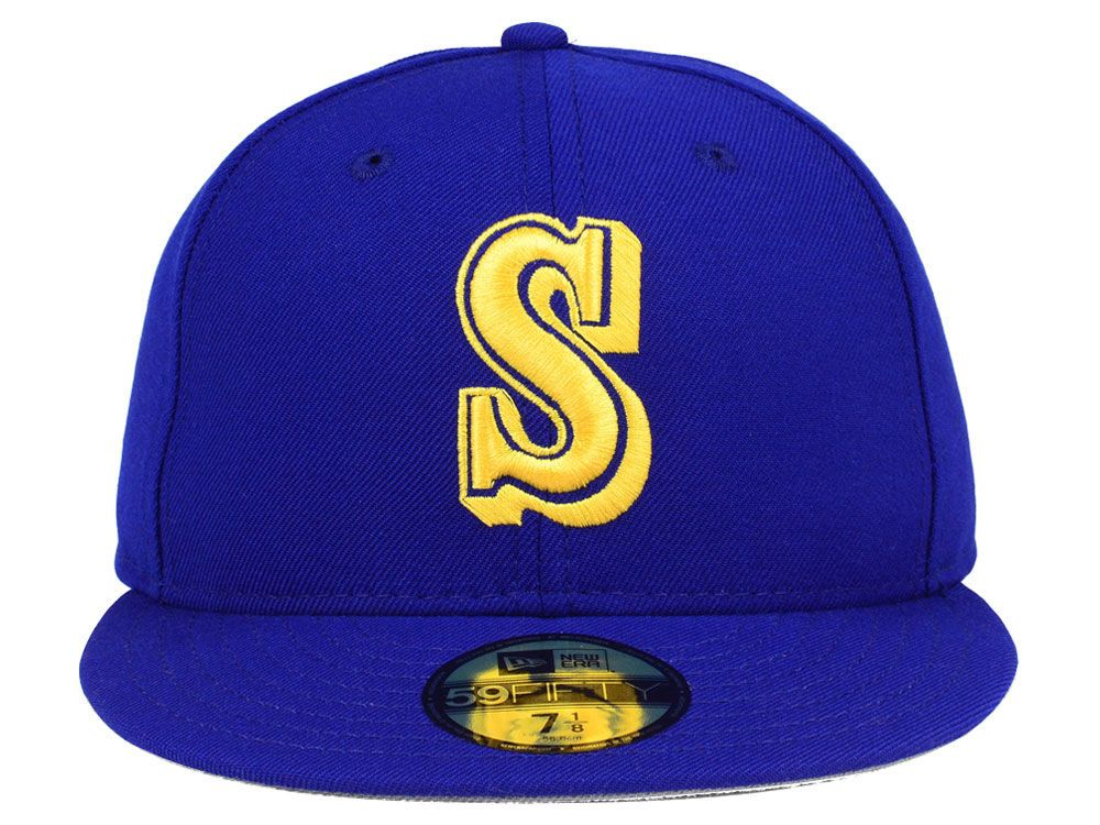 save off 80295 66f70 Seattle Mariners New Era MLB Retro Classic 59FIFTY Cap