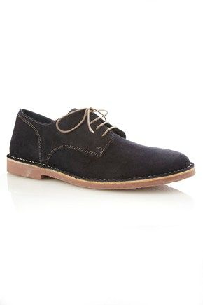 6489dd9d6b Aikman Derby Suede Brogues - Mens Shoes - French Connection ...