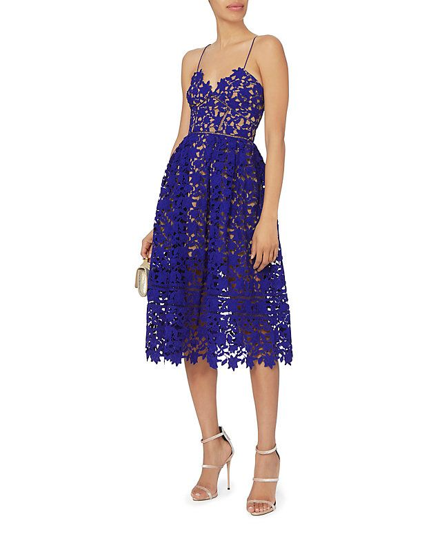 Self-Portrait Azaelea Cobalt Dress | Gorgeous Dresses/Gowns | Pinterest