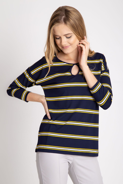 Bluzki Na Lato Damskie 2015 Tanie Bluzki Damskie Xxl Modne Bluzki Damskie 2014 Koszula Czarna Damska Koszula Dluga Striped Top Fashion Tops