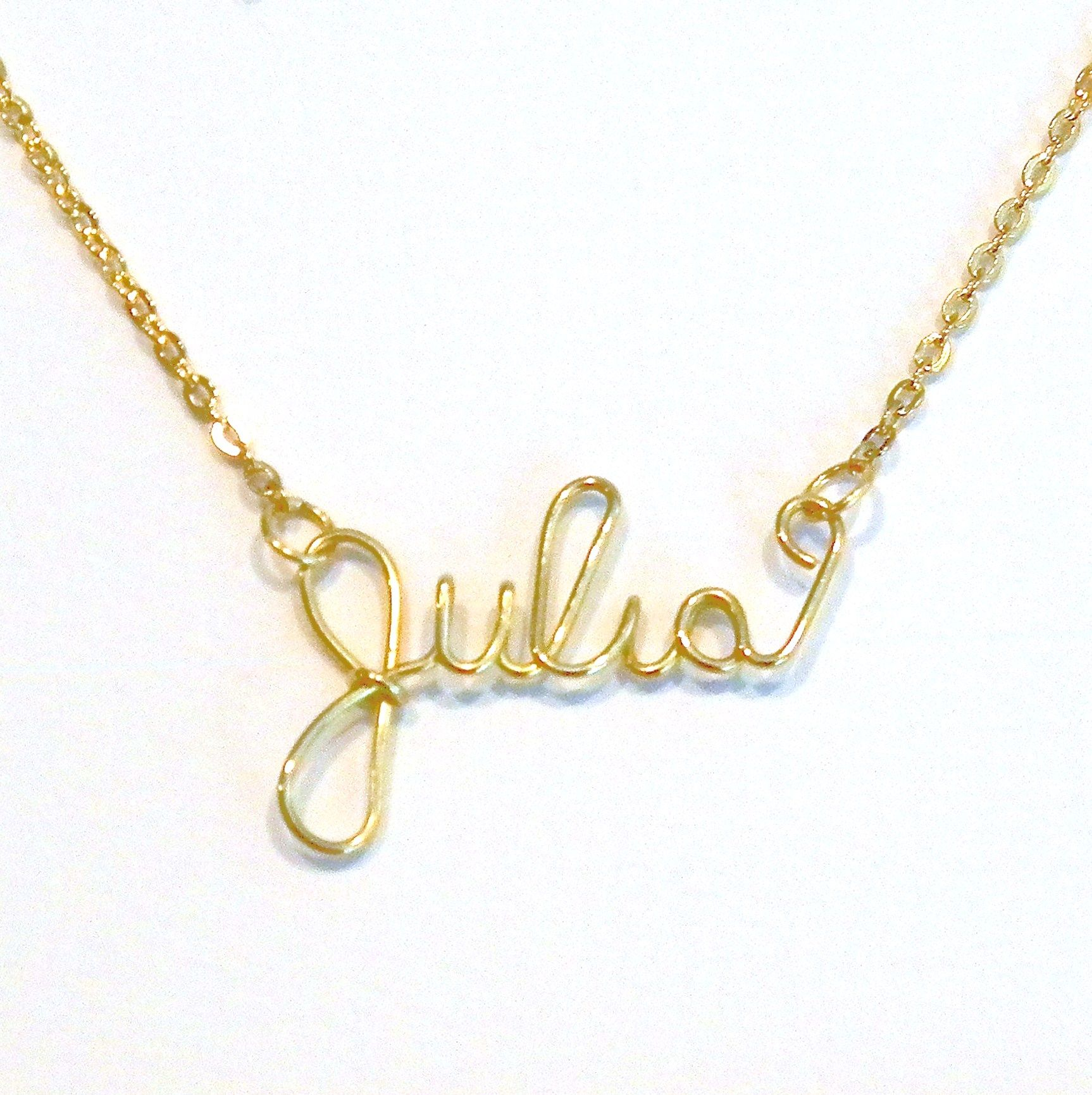product necklace by personalized cursive yellow elle name karat gold dream catcher jewels detailed