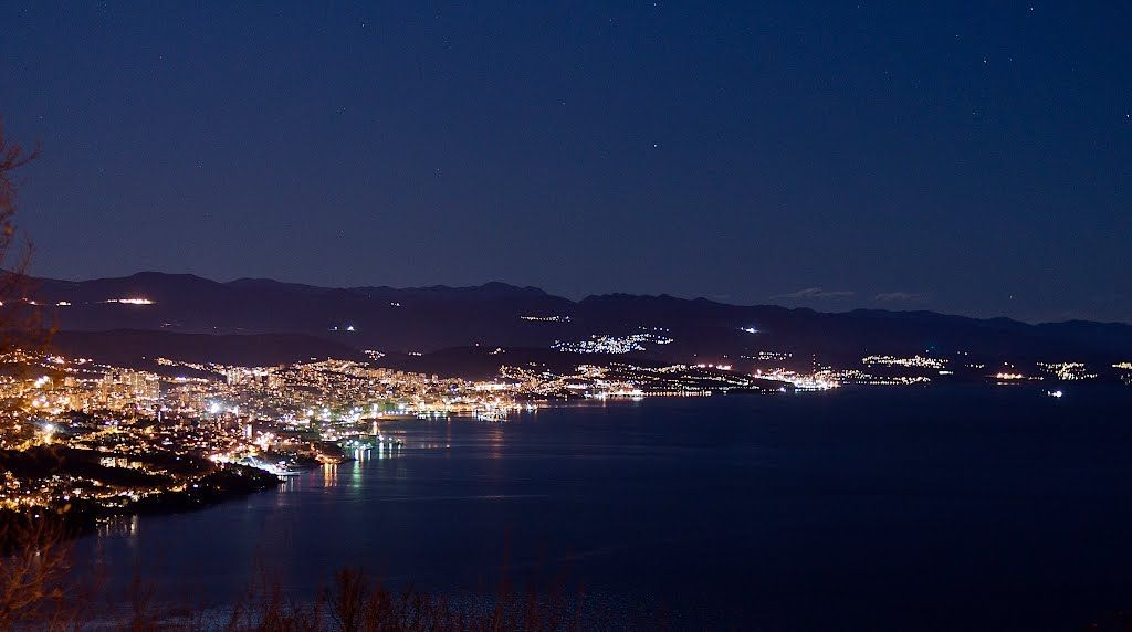 Rijeka At Night Croatia Croatia Rijeka Thousand Islands