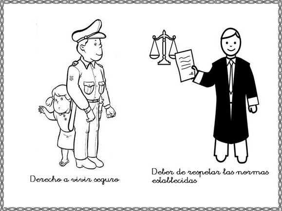 Derechos Y Obligaciones De Los Niños Dibujos Para Colorear Imagui