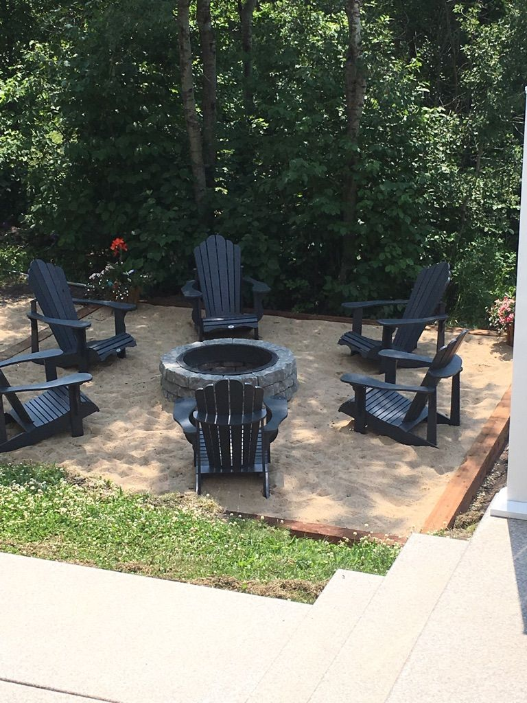 Lowes Fire Pit Leisure Life Adirondack Chairs Timbers With Sand