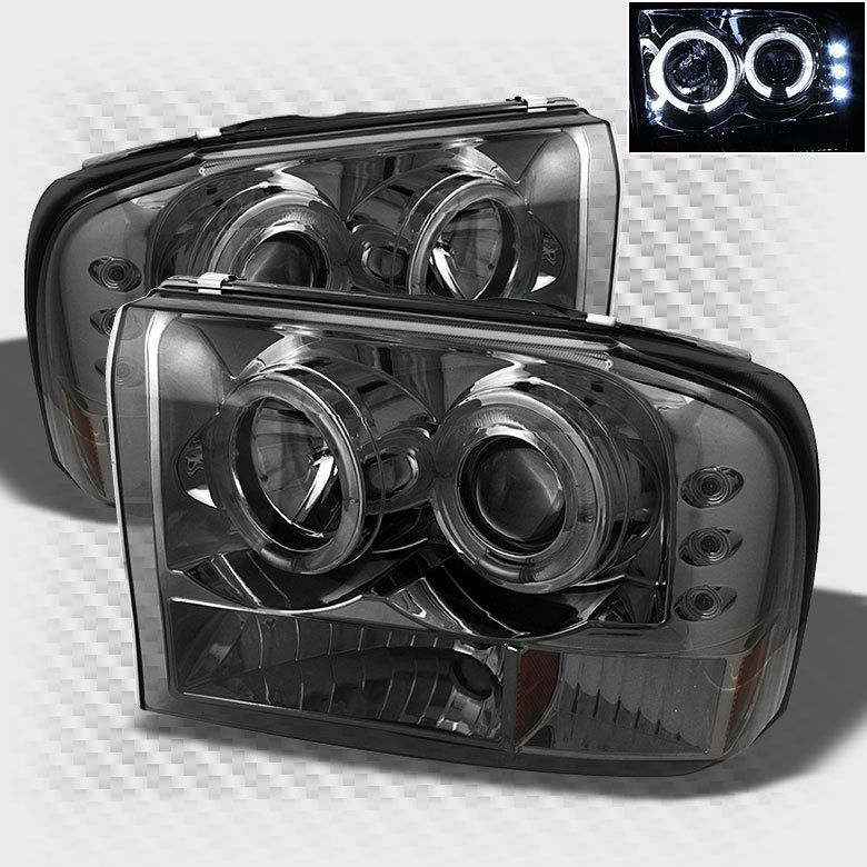 For smoked 9904 f250 f350 super duty halo led pro