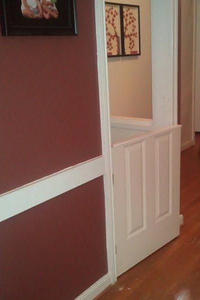 Our Version Of The Half Door Baby Gate Half Doors Half Door