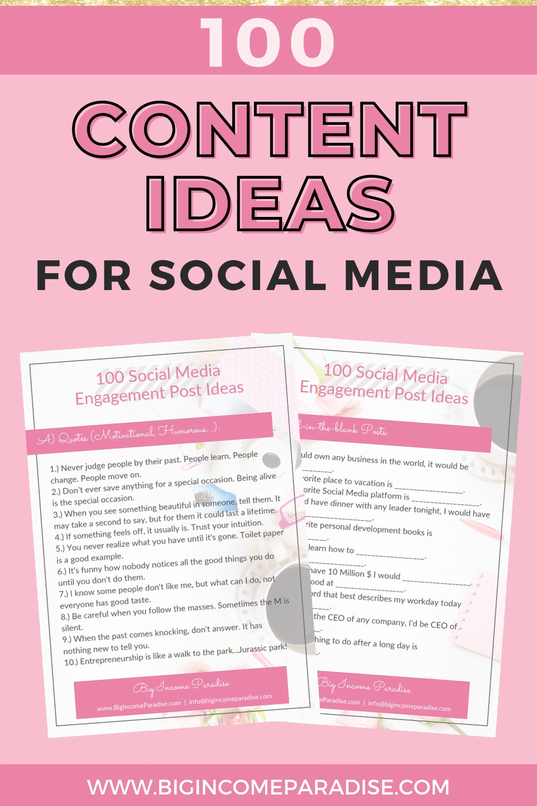 100 Social Media Content Ideas For High Engagement