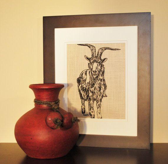 Art for Kitchen - Goat Kitchen Wall Art - Farm Animal Artwork ...