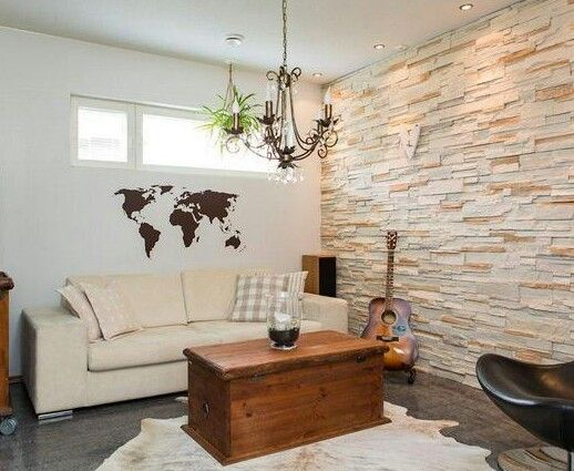 Laja clara arquideco pinterest laja casa acogedora - Paredes de piedra interiores ...