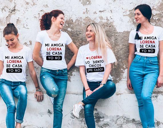 "Mensagem Despedida Amiga: Pack Camisetas Despedida De Soltera ""Mi Amiga Se Casa"