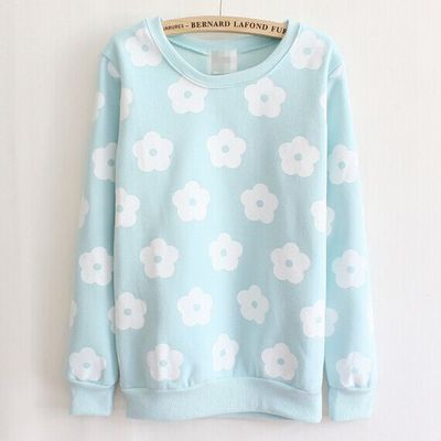Sweet floral printing sweater