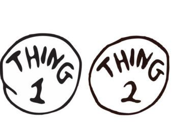 image about Thing 1 and Thing 2 Printable Template identify point 1 and factor 2 producing template - Google Glance March
