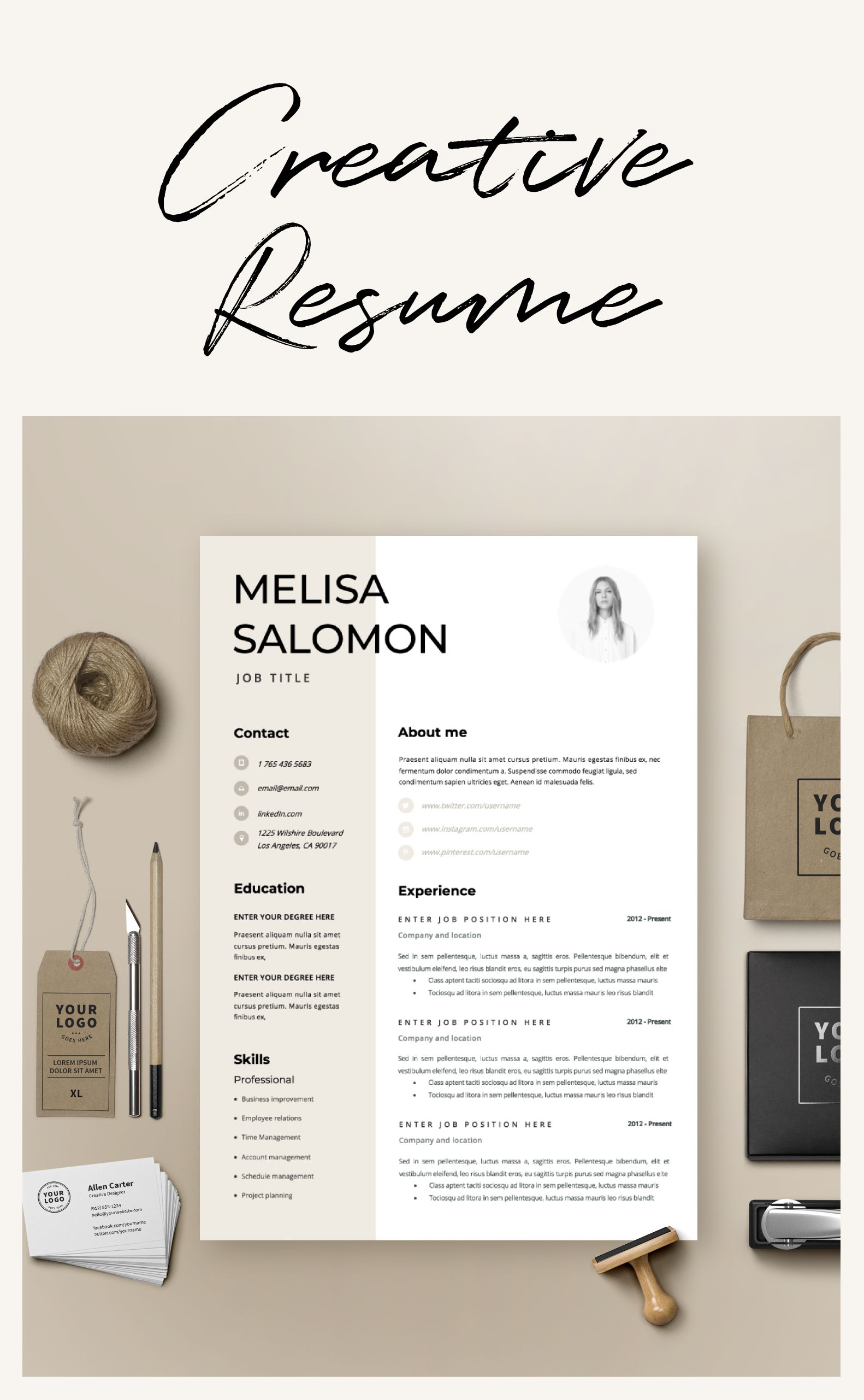 Resume Template Cv Template Resume Cv Design Teacher Etsy Resume Design Template Creative Resume Templates Resume Templates