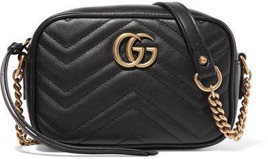 7e1e28780 Gucci - Gg Marmont Camera Mini Quilted Leather Shoulder Bag - Black ...