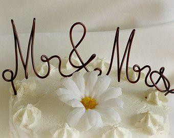 Mr and Mrs Cake Topper Wedding Cake Topper by BetterOffWed