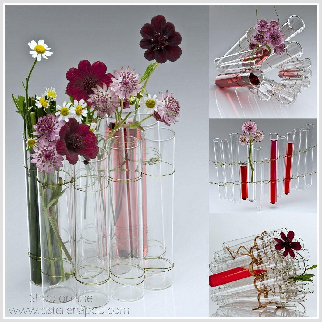 Tubo de ensayo tubo probeta de cristal para decoraci n for Articulos de decoracion