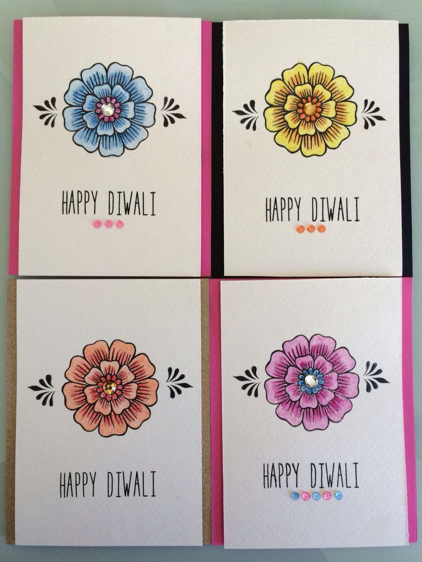 Happy Diwali Festival Card Happy Diwali Festival Card With Gold Diya Patterned Ad Card Gold Festival Diwali Wishes Happy Diwali Cards Diwali Cards
